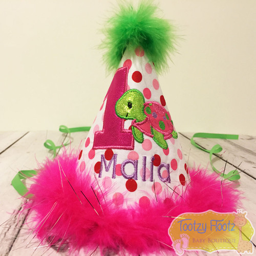 Turtle Themed Birthday Party Hat