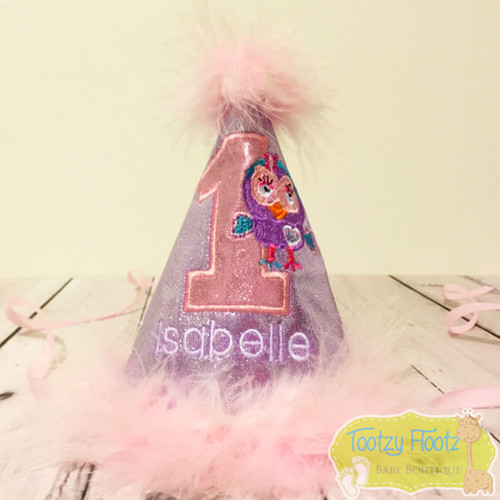 Giggle & Hoot Inspired - Hootabelle Birthday Party Hat (Lilac Base)