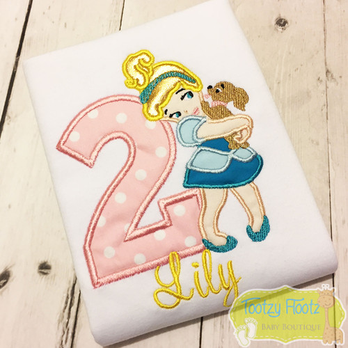 Baby Cinderella with puppy Inspired Birthday