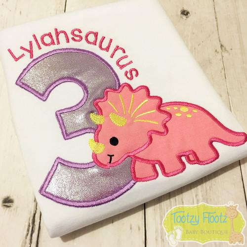 Triceratops Dinosaur Inspired Birthday