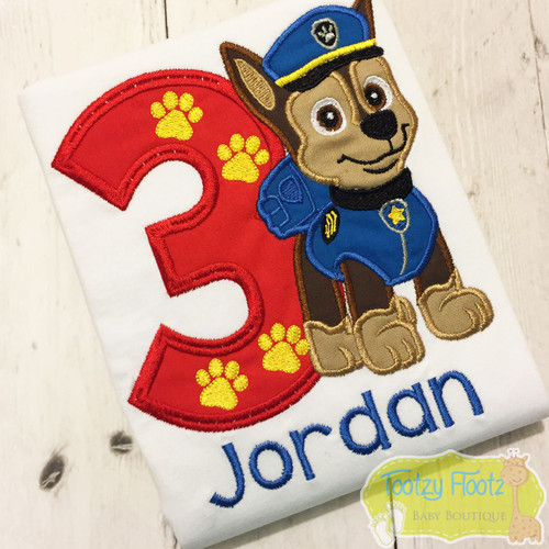 Paw Patrol - Chase - Inspired Birthday