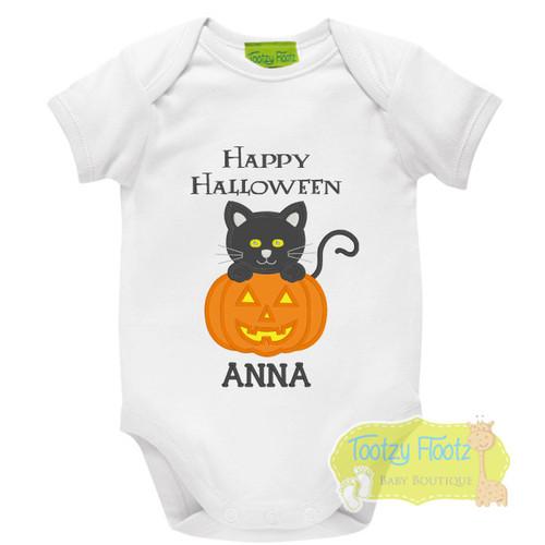 Halloween - Cat with a Pumpkin