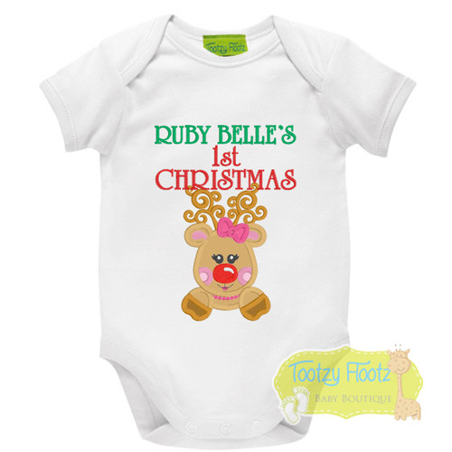 1st Christmas - Girly Reindeer