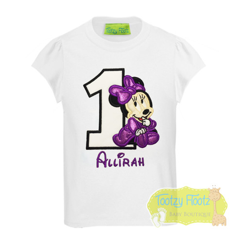 Minnie Mouse Inspired Birthday (Purple / Black) Birthday