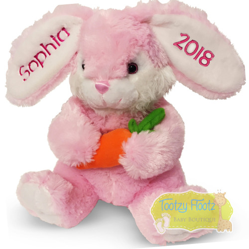 Personalised Easter Bunny Plush - Pink