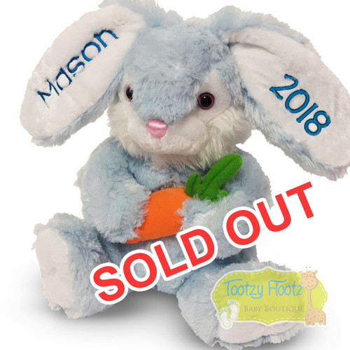 Personalised Easter Bunny Plush - Blue