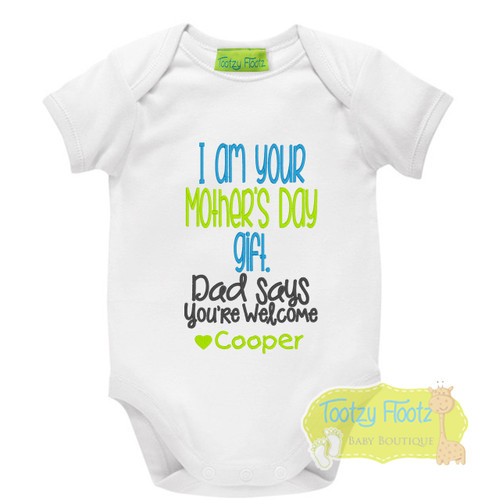 Mother's Day - I am your gift (Blue / Green)