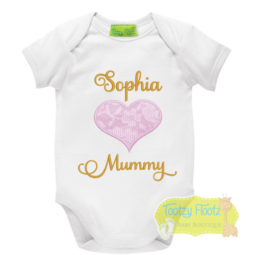 Mother's Day - Lace Heart (Baby Pink / Gold)