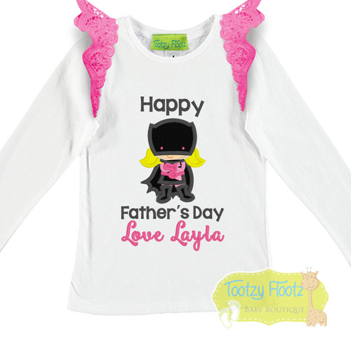 Fathers Day - Batgirl (Pink) With Hot Pink Flutters
