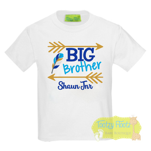 BIG Brother - Feather & Arrow Design