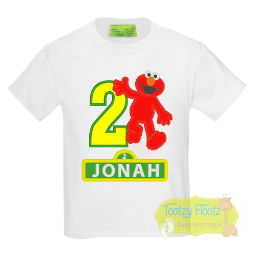 Reserved Listing - Elmo with sesame street sign for name