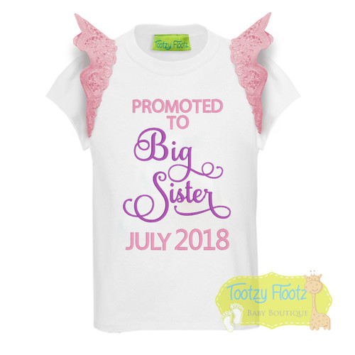 Promoted to BIG Sister - Month / Year w/Flutters