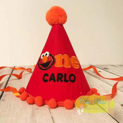Elmo Inspired Birthday Party Hat