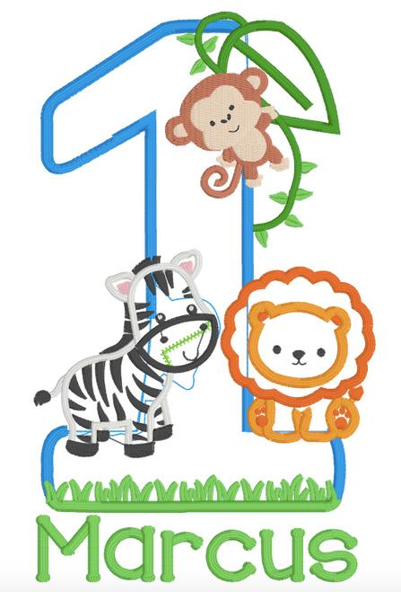 Zoo / Safari / Jungle Themed Birthday (Zebra, Monkey, Lion)