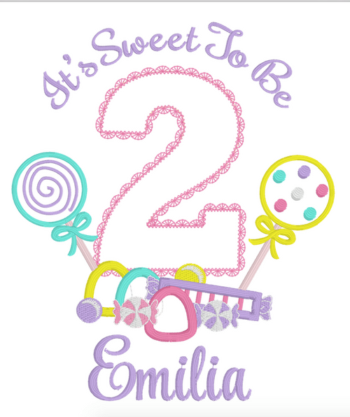Reserved for Sally T - Lolly Candyland Themed Birthday (Baby Pink Tee)