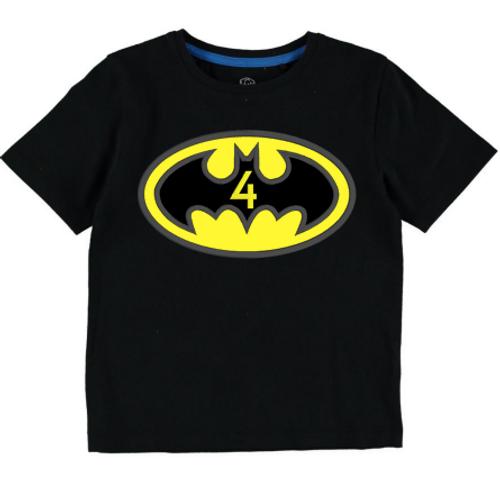 Batman Logo Inspired Birthday (Black Tee)