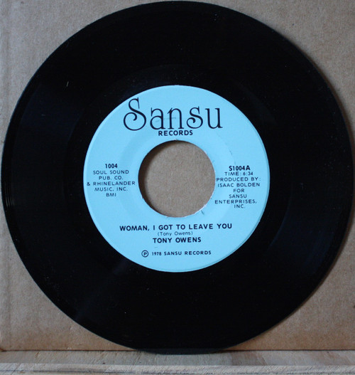 Tony Owens - Woman, I Got To Leave You / Confessin' A Feeling