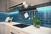"""Glass Subway Tile in Dark Teal - 3"""" x 6"""" (5 Sq. Ft.)"""
