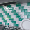 "Glass Subway Tile in Emerald Green - 3"" x 6"" (5 Sq. Ft.)"