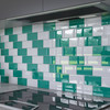 """Glass Subway Tile in Emerald Green - 3"""" x 6"""" (5 Sq. Ft.)"""