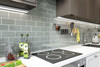 """Glass Subway Tile in True Gray - 3"""" x 6"""" (5 Sq. Ft.)"""