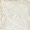 Giorbello Sassuolo Italian Tile in White Relief Design 4 Giorbello Sassuolo Italian Tile, 12 x 12, White Relief