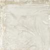Giorbello Sassuolo Italian Tile in White Relief Design 3 Giorbello Sassuolo Italian Tile, 12 x 12, White Relief
