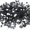 """Black 1/2"""" Tempered Fire Glass, Reflective, 20 lb."""