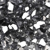 """Gray 1/2"""" Tempered Fire Glass, Reflective, 20 lb."""