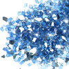 Reflective Tempered Fire Glass in Medium Blue