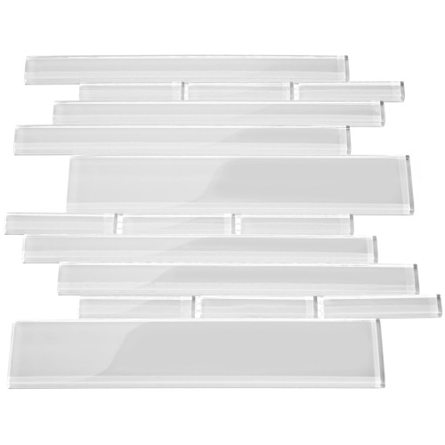 Club Collection Glass Tile, Bright White