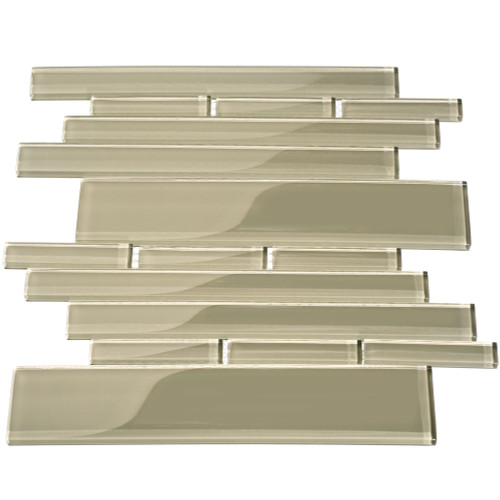 Club Collection Glass Tile, Light Taupe