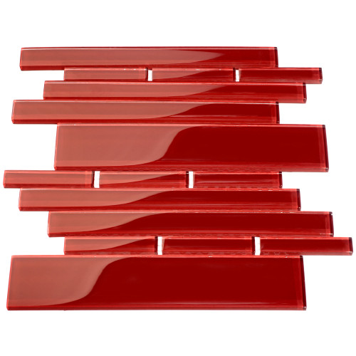 Club Collection Glass Tile, Ruby Red