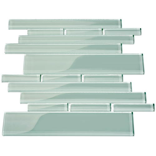 Club Collection Glass Tile, Baby Blue