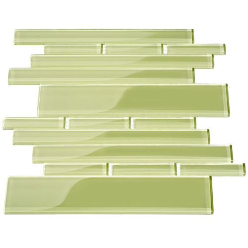 Club Collection Glass Tile, Light Olive