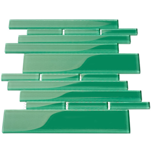 Club Collection Glass Tile, Emerald Green