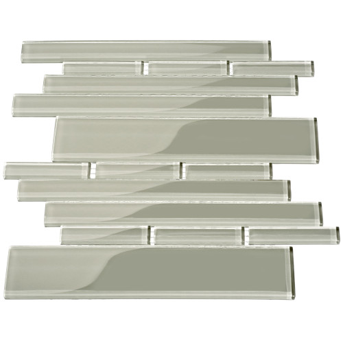 Club Collection Glass Tile, Light Gray