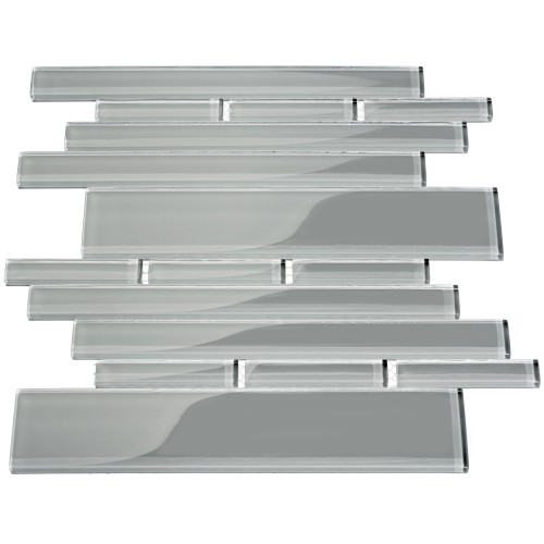 Club Collection Glass Tile, True Gray