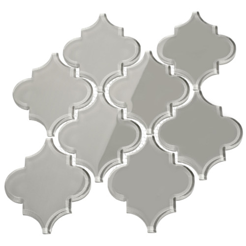 Light Gray Arabesque Glass Tile