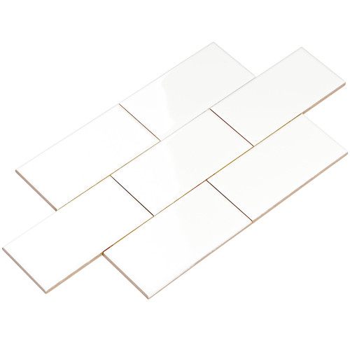 Giorbello Ceramic Subway Tile, White