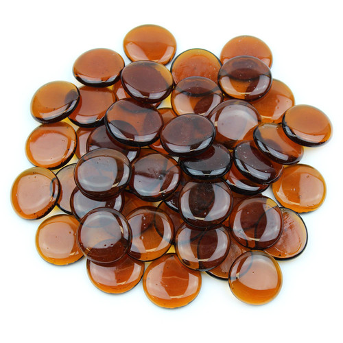 Large Glass Gems - Amber