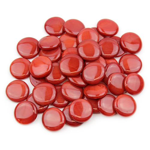 Large Glass Gems - Red Opaque
