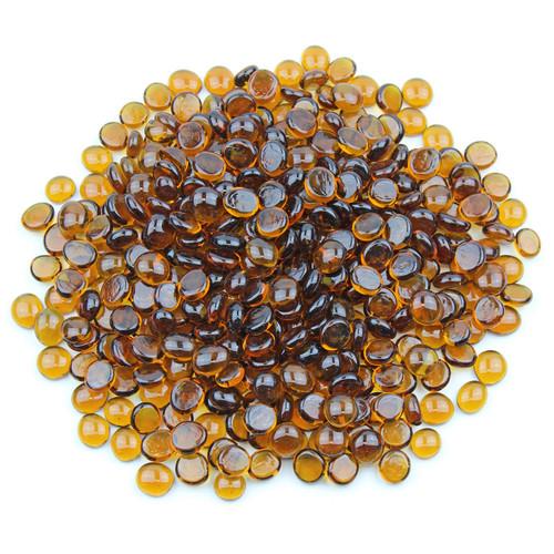 Mini Glass Gems - Amber