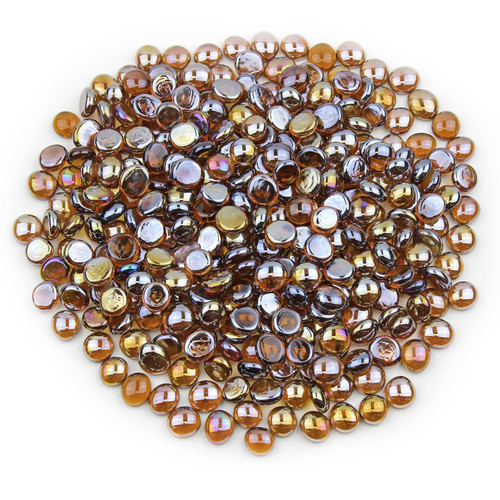 Mini Glass Gems - Amber Luster