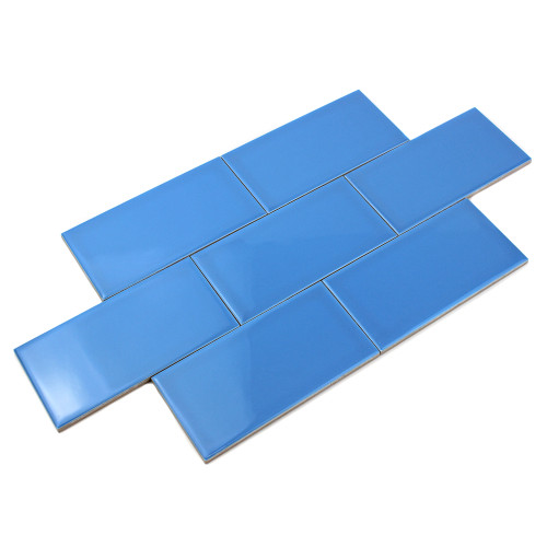 Giorbello Ceramic Subway Tile, Blue
