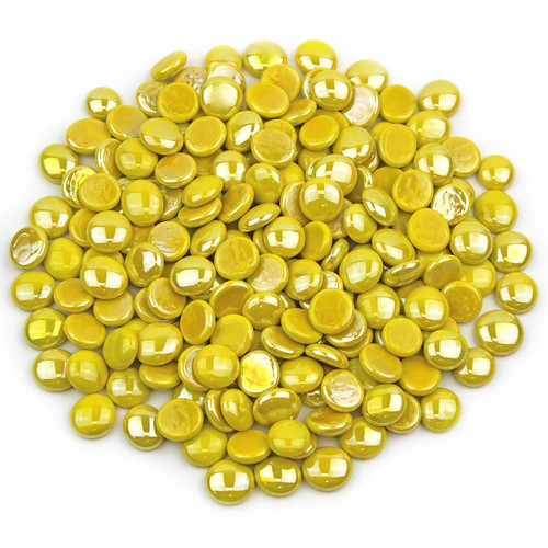 Glass Gems - Yellow Opaque Luster