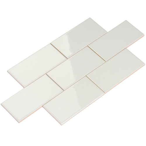 Giorbello Ceramic Subway Tile, Light Gray