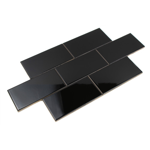Giorbello Ceramic Subway Tile, Black