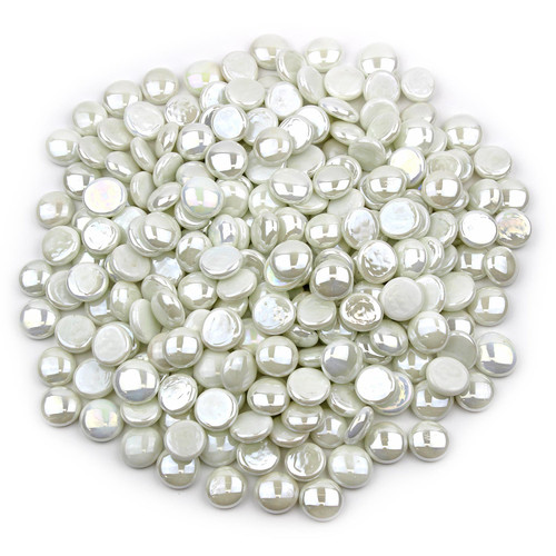 Glass Gems - White Opaque Luster