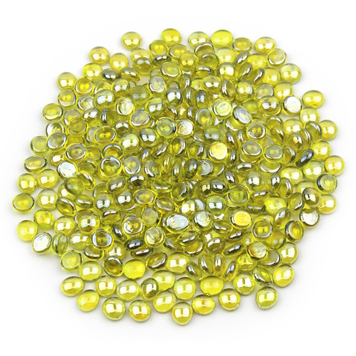 Mini Glass Gems - Yellow Luster